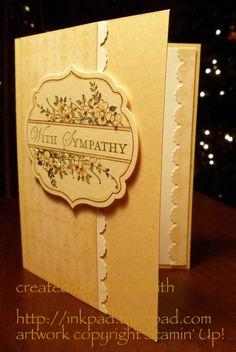 Beautiful Stampin Up card! - Handmade Sympathy Card