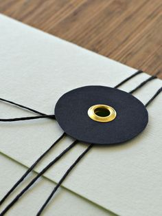 Custom made envelope by Pretty Paper, Sweden.