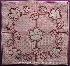Free Colbert Tutorial - Colbert embroidery comes from France. It was formulated around the late 17th century. The style is named after Jean-Baptiste Colbert who was the finance minister of Louis XIV from 1661. He wanted to help his citizens have a home based income, so he developed this embroidery as a type of imitation lace. The Colbert lace like filling patterns were inspired along the lines of Baroque needle made laces. Colbert was stitched into table cloths and mats