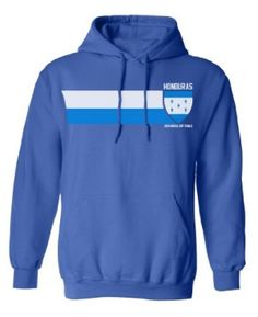 Honduras Football World Cup Unisex Retro Vintage Strip Hoodie available at http://www.world-cup-products-worldwide.com/honduras-football-world-cup-retro-vintage-strip-hoodie/