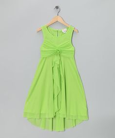 Take a look at this Green Empire-Waist Dress - Girls Plus by Bloome on #zulily today!