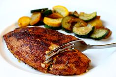 10-minute Blackened Tilapia  --  YES PLEASE!  :-)   Make the even healthier version by using coconut oil, instead of vegetable oil!