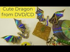 Waste Material Craft Ideas Recycle DVDs in to Cute Dragon Recycled Cds, Recycled Crafts, Waste Material Craft Work, Old Cd Crafts, Fantasy Craft, Cd Diy, Recycling, Wall Hanging Crafts, Rose Tutorial
