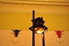 Strainer's light installation by Palier Design Bull-light lamps by IZZI Design