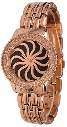 Moog Paris-Vertigo Damen-Armbanduhr Zifferblatt schwarz Armband ROSEGOLD Stahl, hergestellt in Frankreich-m44964-103 - http://uhr.haus/moog-paris/moog-paris-vertigo-damen-armbanduhr-zifferblatt