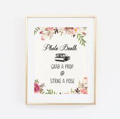 Photo Booth bruiloft teken afdrukbare bruiloft pak door BaloeDesigns