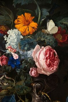 Willem van Aelst - flowers still life - Dutch Golden Age - painting detail