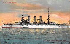 U.S.S. NEW JERSEY  - Battleship -Great White Fleet c.1907 Enrique Muller