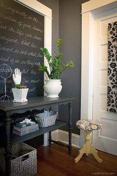Black and Charcoal Gray Paint Colors for Our Home Office - Driven by Decor