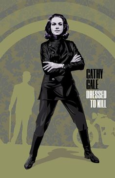 TOO COOL FOR WORDS! Cathy Gale The Avengers 17 x 11 Digital Print by DadManCult, $12.99
