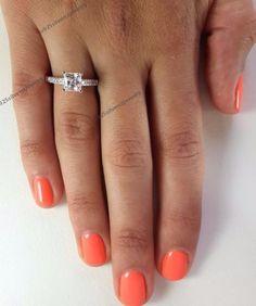 1.5/9 Carat Princess Cut Diamond Engagement Ring D/VVS1 14K White Gold Plated  | eBay