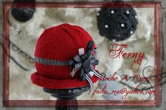025 Elegante / Elegance Knitting New Born,   Gorro para Recien Nadido o adulto / Baby Girl or Adult hat Gorro Tejido / Knitting Hat