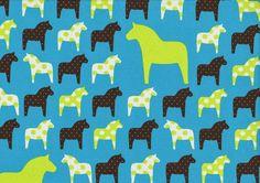 Jersey Pferde Pferd Polka Dots Punkte türkis lime Swafing Vicente Öko-Tex 100