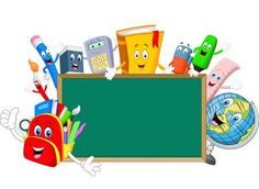 Illustration of Cartoon collection stationery with blank sign vector art, clipart and stock vectors. School Images, School Photos, School Photo Frames, School Days, Art School, School Border, Creative Powerpoint Presentations, Blank Sign, Powerpoint Background Design