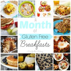 Are you looking for healthy, gluten free breakfast ideas? How does a month of gluten free breakfasts sound? Check out the round up! Gluten Free Recipes For Breakfast, Gluten Free Breakfasts, Gluten Free Cooking, Healthy Breakfasts, Healthy Snacks, Gf Recipes, Dairy Free Recipes, Healthy Recipes, Easy Recipes