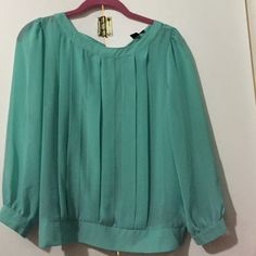 Teal Shirt Very classy teal shirt Tops Blouses