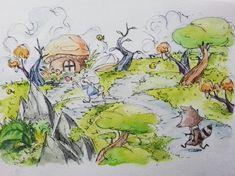 saat setapak demi setapak bukan lagi proses.. scene 3 #art #draw #drawing #sketch #sketching #watercolor #storybook