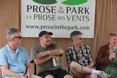 The Shivers suspense fiction panel with Andrew Pyper, Michael Mirolla, James K. Moran and Kate Heartfield at Prose in the Park 2016 www.proseinthepark.com Fiction, Poetry, Park, Couple Photos, Books, Couple Shots, Libros, Parks, Book