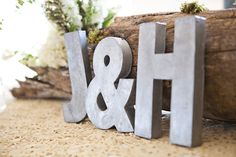 Love these weathered aluminum letters