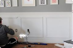 This is an inspiration to remind me that it's not as intimidating as I think it is.  [How to Install Molding Boxes]