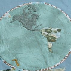 Around the World Free Applique Designs - How to applique an amazing globe pattern.