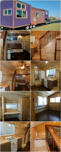 The Purple Monster by Tiny Diamond Homes Is a Spacious Jewel Tiny House Nation, Tiny House Trailer, Tiny House On Wheels, Tiny House Living, Small Living, Portable Tiny Houses, Tiny Spaces, Tiny House Design, House Styles
