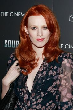 karen elson.  Celebrity Hair Color Idea to Steal: Try a Vibrant Red Shade Like Karen Elson Take a cue from this model and singer and make your hair your top fashion accessory this summer.