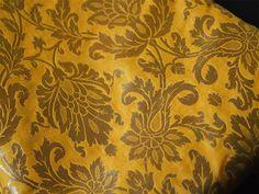 Pure Silk Brocade Fabric in Yellow and Gold with Motifs Weaving - Indian Silk, Dresses Fabric - Pure Banarasi Brocade Silk Fabric by Yard