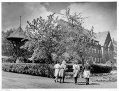 Dieses Bild von 1961 zeigt ein Mädchenheim in Hannovers Osten.   Quelle: Hauschild