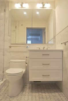 Custom Bathroom Vanities Nyc a custom white vanity holds court in a traditional style pre-war