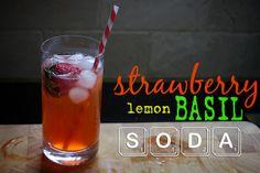Strawberry lemon basil soda, by Shutterbean. Looks easy enough. I ...