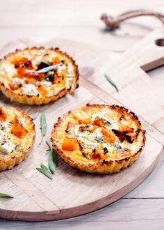 Roast Pumpkin, Sage and Feta Cauliflower Tarts