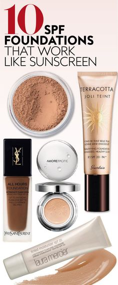 Give your skin some extra insurance. #spf #foundations #sunscreen #bestfoundations