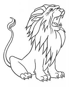 löwe ausmalbild - ausmalbilder für kinder | löwen bilder