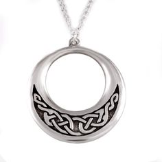 Creole Pendant - Celtic knotwork (small)