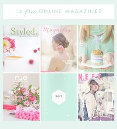 Oh the lovely things: 15 Beautiful Free Online Magazines