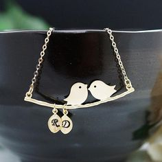 Love Birds Couple Necklace  by earringsnation