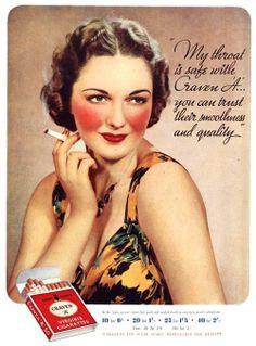 Craven A Uk Cigarettes Smoking by The Advertising Archives Pub Vintage, Photo Vintage, Vintage Signs, Vintage Posters, Retro Posters, Vintage Style, Advertising Archives, Retro Advertising, Retro Ads