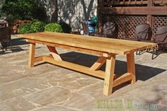 10 foot long Provence Table with 4x4s   Do It Yourself Home Projects from Ana White more new read here: http://roundpatiotable.net