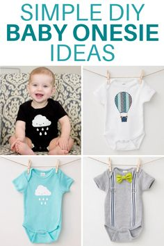 Have you tried decorating your own baby onesies?  Its so easy and Im sharing a few of my favorite DIY Baby Onesies that I created with this easy tutorial. #babyonesies #decoratingonesies