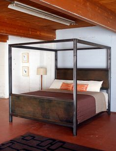 Kraftig Canopy Bed by deliafurniture on Etsy, $2000.00