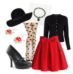 Polka Dot Pinup by bobby-trouble on Polyvore featuring polyvore, Mode, style, Paul Smith, Chicwish, Pinup Couture, Retrò, Monki, fashion and clothing