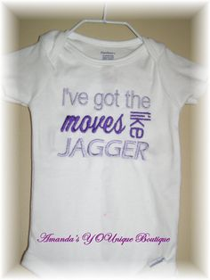 I've Got The Moves Like Jagger Embroidered Shirt by AYBoutique, $22.00