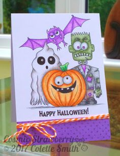 Cosmic Strawberry: Happy Halloween Illustrated & designed by me for the Oct 17 issue of Crafts Beautiful