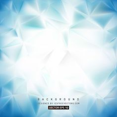 Abstract Blue White Polygonal Background Design