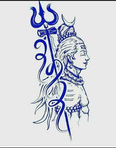 Shiva is also known as Adiyogi Shiva, regarded as the patron god of yoga, meditation and arts tattoo mann vorlagen Aghori Shiva, Rudra Shiva, Hanuman Images, Lord Shiva Hd Images, Hanuman Pics, Mahakal Shiva, Shiva Art, Krishna, Lord Shiva Sketch