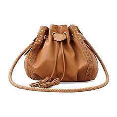 Falidi Women'S Commuter Messenger Bag Tassel Drawstring Bag Retro Handbags - EUR € 23.63