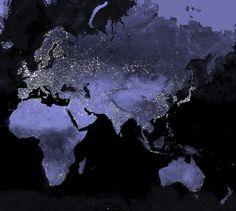 Nasa Earth At Night Map Out Of This World Pinterest NASA - Earth at night map