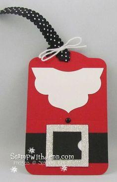 Stampin' Up! Christmas Santa Tag  by Jenn Tinline at Stamp with Jenn