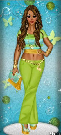 fashion illustration worn by Diva Chix member, angieluvboo